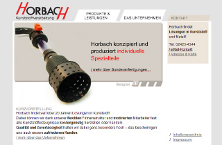 www.horbach-kunststoffe.de, Langerwehe, Website-Screenshot
