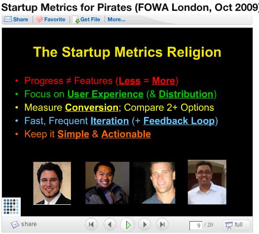 Slide 9 der Präsentation Startup Metrics