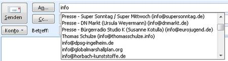 Die Autocomplete-Funktion in Office 2007