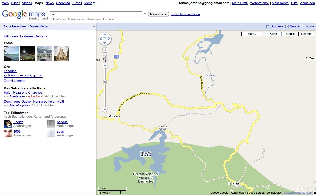 Google Map Maker TED Talk und Karten Vergleich - flyingsparks