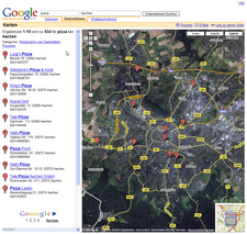 map google ac overview pizza