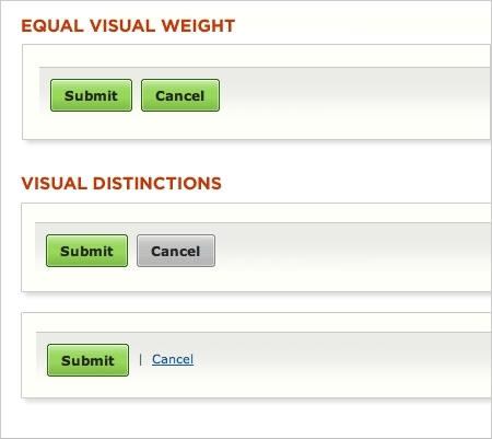 Primary & Secondary Actions in Web Forms